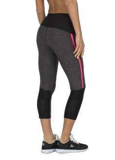 United Rbx Active Capri Length Legging Size Med Color Black With Vented Sides Various Styles Activewear Bottoms