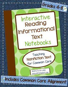 Thursday Throw Down #2 ~ Interactive Notebooks FAQ and a FREEBIE! - I'm Lovin' Lit