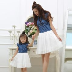 Mother & Kids Lower Price with Mother Daughter Dresses Family Matching Clothes Women Kid Girls Boho Beach Summer Dress Party Long Sleeve Princess Vestidos To Prevent And Cure Diseases