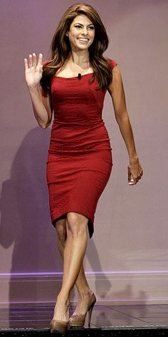She is Shapely and Beautiful :) .... I want the dress.