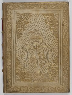Original binding of gold-tooled parchment with the royal coat of arms and initials 'E R' ('Elizabeth Regina'), from a manuscript of complimentary verses to Elizabeth I, England (Eton), 1563, Royal MS 12 A XXX, front cover  - See more at: http://britishlibrary.typepad.co.uk/digitisedmanuscripts/2014/10/dedicated-to-you.html#sthash.s0gRfsA6.dpuf
