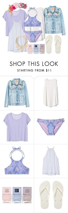 """floral"" by dodo85 on Polyvore featuring Gap, Monki, A.L.C., Nails Inc. and Havaianas"