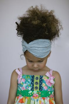 Toddler Turban Headband Little Girls Bohemian by ThreeBirdNest