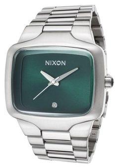 'Big Player' Diamond Marker Rectangular Bracelet Watch, 44mm, Adult Unisex, Size: _MM, Green