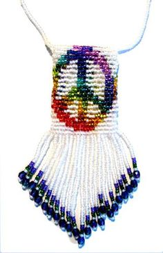 Beaded Amulet Bags Images Peacocks   Little Peace Amulet Bag Pattern and Kit : Beading Patterns and kits by ...