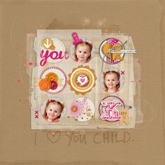 Love how KimR+ has showcased the {Readymade Circles: You} on this layout!