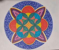 """Semana 3, Mandala 1 """"Colores"""" Claudia Villanueva"""