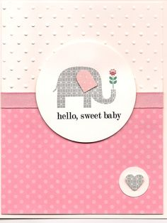 baby shower card #1 patterned expressions