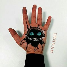 Alice in Wonderland - Cheshire Cat. Body Painting with 3D Hand Drawings. To see more art and information about Luca Luce click the image.