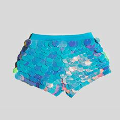 cotton candy sequin shorts festival style