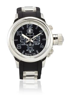 $189 Invicta Men's 4578-SN Russian Diver Chronograph Black Dial Black Polyurethane Watch at MYHABIT - http://myhabit.com/ref=qd_mr_per_l?refcust=UOTUZUTFMS2TIMSVJQ3URT3IZE