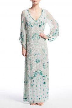Lenyala Hand Embellished Silk Chiffon Caftan