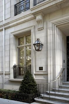 Home Exterior ~ Limestone ~ French Quarter Bevolo Gas Lantern