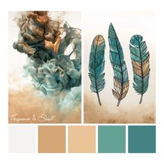 Color Inspirations Turquoise Dust ❤ liked on Polyvore featuring beauty products, makeup, face makeup and face powder
