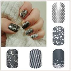 grey jamberry nails
