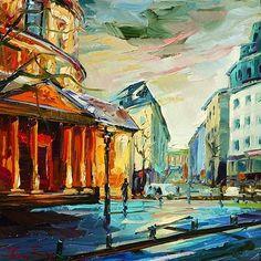 """Daily Paintworks - """"Straßen von Paris"""" by Jurij Frey"""