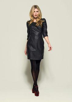 Fake leather dress