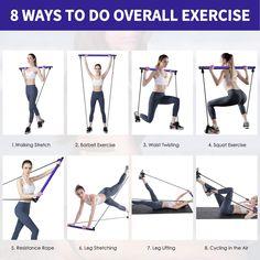 Pilates Workout Routine, Pilates Training, 15 Min Training, Bar Workout, Squat Workout, Workout Videos, Pilates Band, Le Pilates, Full Body Workouts