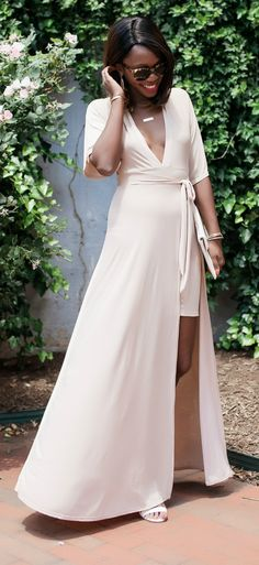 what to wear to a summer wedding -- this maxi dress is SO affordable!