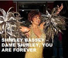 Today (January 8) Miss Shirley Veronica Bassey is @)_!. Happy Birthday. To watch her 'Portrait' 'Dame Shirley, You Are Forever' in a large format, to hear 'Your 10 Most Favorite Dame Shirley Bassey Tracks' on Spotify, go to >>http://go.rvj.pm/f9 (PRIVATE AREA).