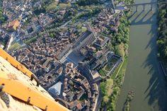 Vue aérienne d'Albi en montgolfière