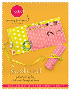 JEWELRY ROLL by MODKID | Sewing Pattern | YouCanMakeThis.com