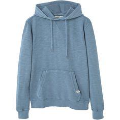 Kangaroo Pocket Hoodie ($32) ❤ liked on Polyvore featuring tops, hoodies, jackets, sweaters, hoodie top, long sleeve tops, long sleeve hooded sweatshirt, round top and long sleeve hoodie