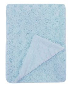 This Blue Mon Lapin Rose Blanket is perfect! #zulilyfinds