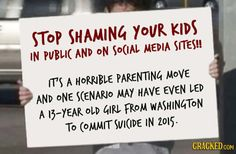 Stop Shaming Your Kids!