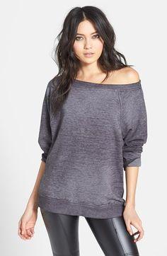 Off Shoulder Sweatshirt | @Nordstrom
