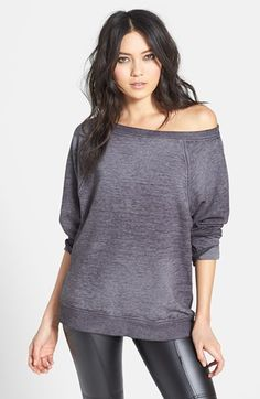 Leith Off Shoulder Sweatshirt available at #Nordstrom