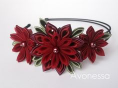 Wreath with burgundy chrysanthemums by Avonessa on Etsy