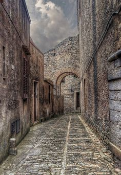 Sicily Street of Erice by Fil.ippo, via Flickr