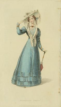 Hat, pelerine and parasol. Ackermann's Repository 1826