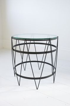 Anonymous, French Steel Barrel Table, 1950s.