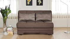 Twist Loveseat Sleeper in Astoral Light Brown by Istikbal