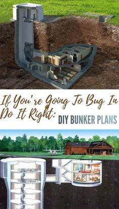 If You're Going To Bug In, Do It Right: DIY Bunker Plans - What I want to focus on today is the disaster bunker, which is widely thought to be out of reach for most either financially or space wise. This article will go over a few ways you can achieve the Homestead Survival, Camping Survival, Survival Prepping, Emergency Preparedness, Survival Skills, Survival Gear, Outdoor Survival, Zombies Survival, Survival Quotes