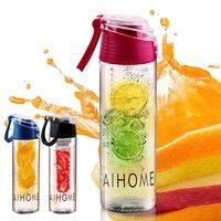Wish | 800 ML Fruit Juice Infusion Infuser Water Bottle Sport Health Flip Lid