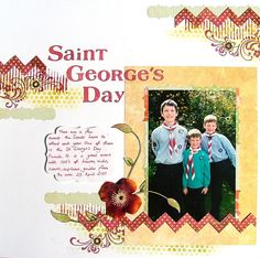 St George's Day Scrapbook Page