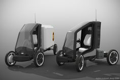 Electric Cargo Bike, Electric Tricycle, Electric Cars, Transportation Design, Electric Transportation, Microcar, City Car, Pedal Cars, Car Engine