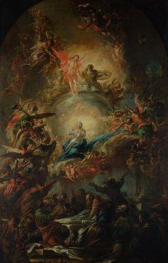 Angels Christian Art - The Assumption by Johann Christoph Lischka Renaissance Kunst, Renaissance Paintings, Catholic Art, Religious Art, Rennaissance Art, Baroque Art, Arte Obscura, Jesus Art, Biblical Art