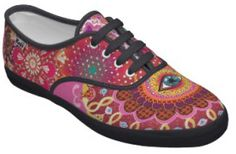 funky trippy shoes