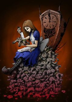 Alice Madness Returns art > We're All Mad Here. Alice Liddell, Dark Alice In Wonderland, Adventures In Wonderland, Lewis Carroll, Illustrations, Illustration Art, Alice Madness Returns, Dark Drawings, Dark Pictures