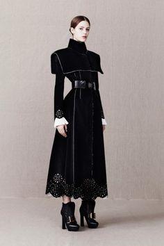 Just love the coat.  Alexander McQueen Pre-Fall 2013