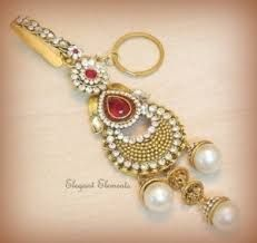 Indian bridal wear waist key chain traditional golden pearl zircon stud challa jewelry - Online Shopping for Key Chains by Elegant Elements-Accessories-Elegant Elements 1 Gram Gold Jewellery, Gold Jewellery Design, Gold Jewelry, Chain Jewelry, Bridal Bangles, Bridal Jewelry Sets, Cute Jewelry, Jewelry Crafts, Fashion Earrings