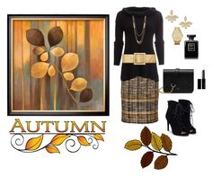 """""""Autumn Afternoon🍂"""" by jbeb ❤ liked on Polyvore featuring Oscar de la Renta, Free People, Yves Saint Laurent, JustFab, Gorjana, Mulberry, Roberto Coin, Michael Kors and Witchery"""