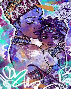 Art by Justin Copeland photography Art Black Love, Black Girl Art, Art Girl, Dope Kunst, Art Amour, Art Beauté, Art Magique, Black Art Pictures, Natural Hair Art
