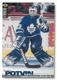 FELIX POTVIN 1995-96 TORONTO MAPLE LEAFS Upper Deck NHL Collector's Choice 1995-1996 - Collection preview - laststicker.com New York Islanders, Tampa Bay Lightning, Washington Capitals, Toronto Maple Leafs, Montreal Canadiens, Detroit Red Wings, Boston Bruins, Upper Deck, Chicago Blackhawks