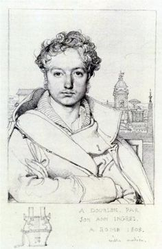 Learn more about Victor Dourlen Jean Auguste Dominique Ingres - oil artwork, painted by one of the most celebrated masters in the history of art. Guy Drawing, Life Drawing, Figure Drawing, Drawing Sketches, Art Drawings, Portrait Sketches, Lazuli, Auguste, Dominique
