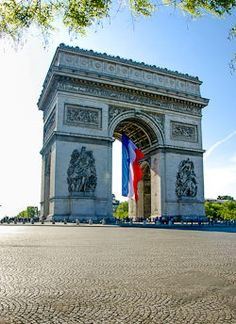The Arc de Triomphe and the French Flag for Bastille Day Celebration, tomorrow, July 14, 2012 - Paris #www.frenchriviera.com